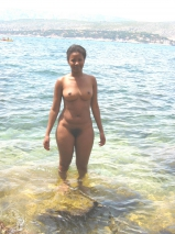 Isabel naked at home and in the sea