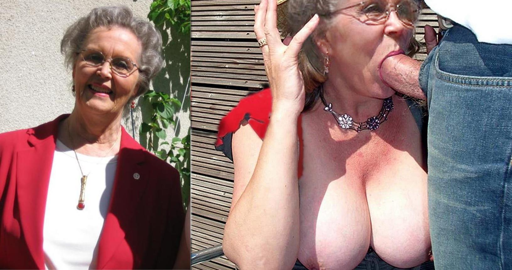 Granny undressing mature