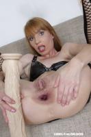 Vanda's brutal anal dildo insertion - N2