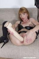 Vanda's brutal anal dildo insertion - N16