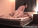 Awesome asian brunette hoe gets fucked part6