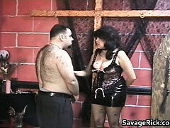 big and hairy man gets tied and butt part1