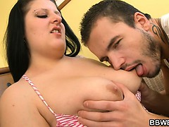 bbw-gets-her-pussy-pleased-by-a-guy