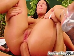 Here Is Tiffanny Taking On Two Big Big Cocks. She Gets Her