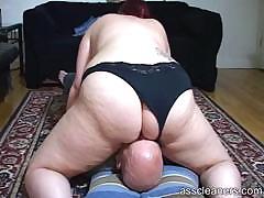 Chubby Mistress Sits Her Big Fat Ass On A Man`s Face
