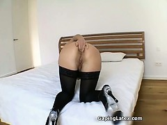 Nasty Brunette Slut Goes Crazy Part1