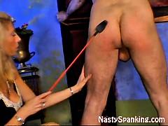 blonde-milf-spanking-husband