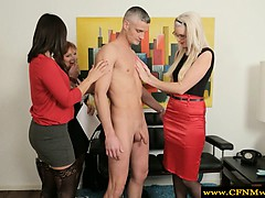 cfnm milf group feel up naked dude