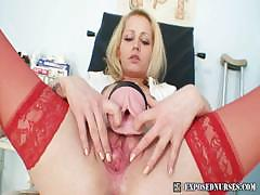 blond-nurse-bitch-gets-perverted-on-gynchair