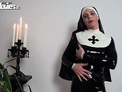 slutty-latex-nun-rubbing-her-kinky-latex-costume
