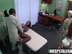 Foxy Brunette Babe Getting Fucked Hard By Her Doctor