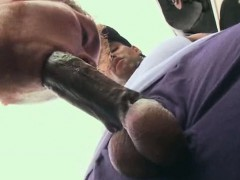 Tall Thug Gives A Blowjob To A Big Cock