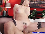 Milf housewife skank cheats in front of husband