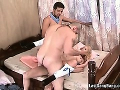 Blonde Slut Enjoys In Double Penetration