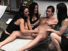 cfnm jerking loving ravens being playful with cock outdoor