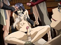 Naked Hentai Guy Gets Screwed Up By Some Gangsters