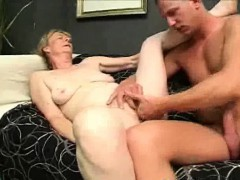hairy granny dick sucks and gets nailed