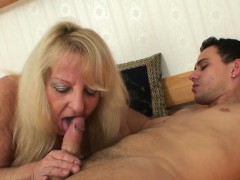blonde granny pleases a stranger granny sex movies