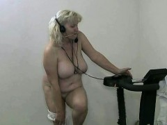 naked kinky workout by this sexy granny part1 granny sex movies