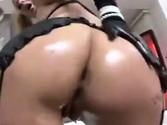 Oiled Up Blonde Whore