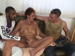 granny swallows two cocks at once granny sex movies