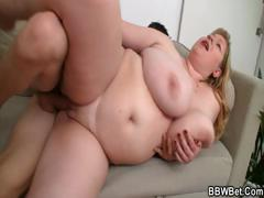 Huge Fatty Gets Lured Into Bed