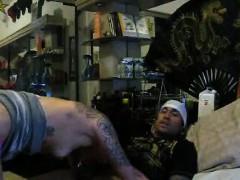 Guy Mexican dude bangs tattooed slut