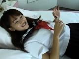 Mika Machida shows off her wet panties