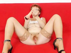 jindriska-banging-her-haired-snatch-in-stockings-and-heels