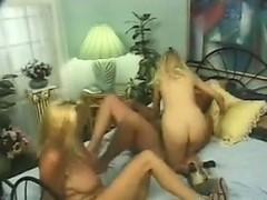 Horny Blonde Grandmas In A Threesome