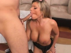 Sexy cougar with big tits having sex