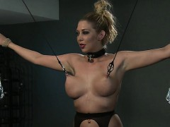 tied-up-busty-blonde-pussy-toyed-in-dungeon