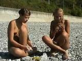 Sweet Naked Girls Having Fun At A Beach