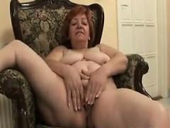 chubby granny mastubates on the chair granny sex movies
