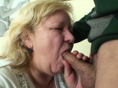 Huge Old Grandma Sucks And Rides Young Dick