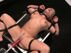 Russian Strapped And Fucked By A Machine