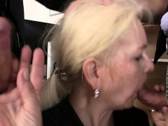granny takes two cocks at job interview granny sex movies