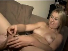 blonde-lesbian-gets-pantyhose-in-her-pussy