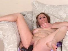 cristine-ruby-fucks-herself-with-a-massive-black-dildo