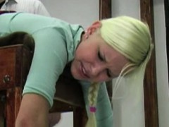 blonde-gets-her-ass-spanked