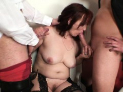 poker-leads-to-3some-with-old-bitch-in-stockings