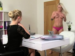 lesbians-oral-and-strap-on-action-in-casting
