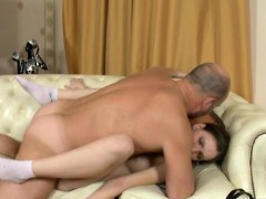 Agreeable Beauty Is Delighting Old Tutor's Hard Male Dong