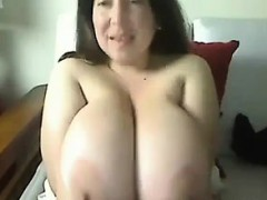 Gorda tetona en la webcam