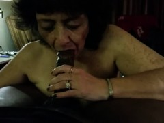 granny taking good care of a massive black penis