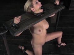 Dominated Cherie Deville dildo penetrated