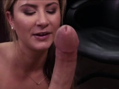 sexy waitress takes on a massive penis