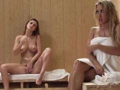 busty-redhead-lezdom-facesitting-in-the-sauna