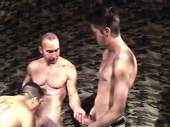 Hot Gay Threesome Sandwich And Stuffing
