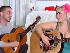 Hot Bbw Blonde Fucks Her Guitar Instructor